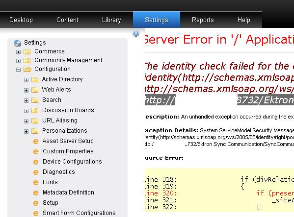 Identity Check Error