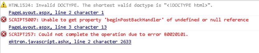 js errors ektron toolbar ie10 v9.1sp1