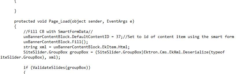 SliderCodeSnippet