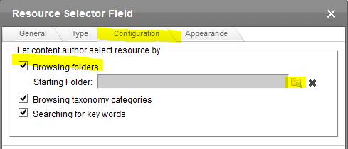 browsing folder selector