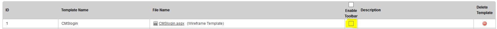 legacy toolbar