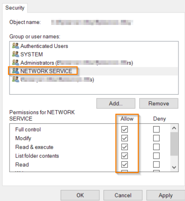 Access to the Path Error – Support Help Center